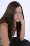 Female crouched down royalty free stock image