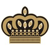 Female crown embroidery Tiara icon wedding with rhinestones. Royalty Free Stock Photography