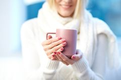 Female with cup Stock Photography