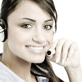 Female customer service Stock Image