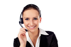 Female customer service Stock Photo