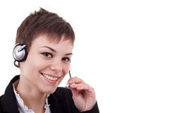 Female customer service agent Stock Image