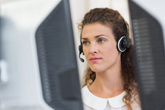 Female customer service agent Royalty Free Stock Images