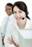 Female customer service agent at work Royalty Free Stock Photo