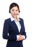 Female customer service operator Royalty Free Stock Photos