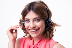Female customer service operator Royalty Free Stock Image