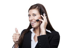 Female customer service representative Royalty Free Stock Photography