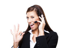 Female customer service representative Royalty Free Stock Images