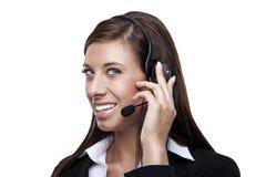 Female customer service representative Stock Photo