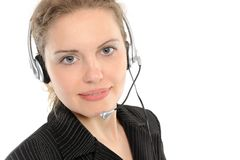 Female customer service representative Stock Images