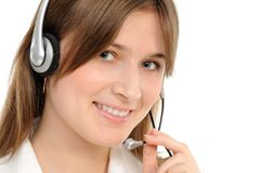 Female customer service representative Stock Image