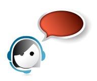 Female customer service representative. contact us Stock Image