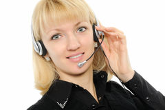 Female customer service representative in headset Stock Photography