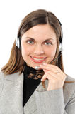 Female customer service representative in headset Royalty Free Stock Images