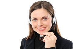 Female customer service representative in headset Royalty Free Stock Image
