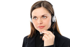 Female customer service representative in headset Stock Photos