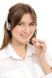 Female customer service representative in headset Stock Photography
