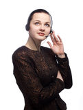 Female customer service representative. I can help you Portrait of a female customer service representative royalty free stock images