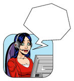 Female customer service representative Stock Image