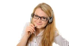 Female Customer Service Representative In Headset Stock Image