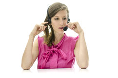 Female customer service representative Stock Photo