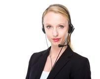Female customer service representative Royalty Free Stock Photos