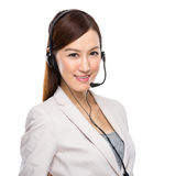 Female customer services operator Royalty Free Stock Photos