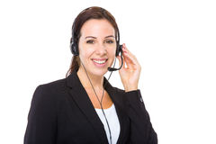 Female customer services operator Royalty Free Stock Photo