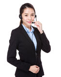 Female customer services operator Royalty Free Stock Image