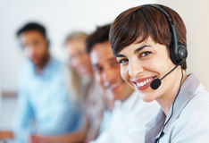 Female customer support Royalty Free Stock Photo