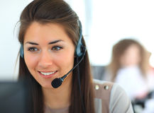 Female customer support operator Stock Photography