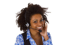 Female customer support operator Stock Photography