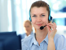 Female customer support operator Royalty Free Stock Image