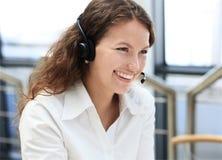 Female customer support operator Royalty Free Stock Image