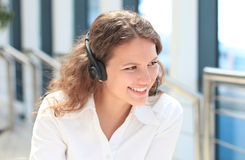 Female customer support operator Royalty Free Stock Photography