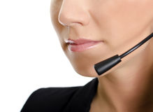 Female customer support operator profile detail Royalty Free Stock Photo