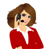 Female customer support phone operator Stock Photography