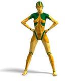 Female Cyborg Stock Images