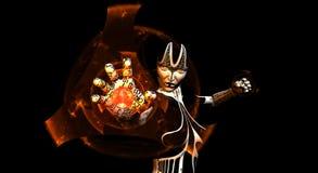 Female cyborg Royalty Free Stock Images