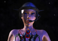 Female Cyborg. Digital Illustration of a female Cyborg Royalty Free Stock Images