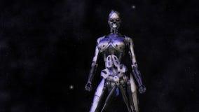 Female Cyborg. Digital Illustration of a female Cyborg Royalty Free Stock Photo