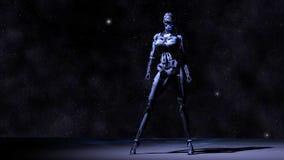 Female Cyborg. Digital Illustration of a female Cyborg Stock Photography