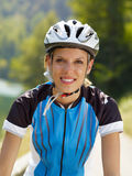 Female cyclist Stock Image
