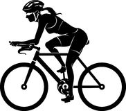 Female Cyclist Silhouette Stock Photos