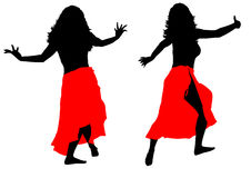 Female dance Stock Images