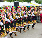 Female dance ensemble at the Nestinarski Games in Bulgaria Stock Images
