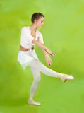 Female dancer in ballet shoes Royalty Free Stock Image