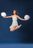 Female dancer cheerleader Royalty Free Stock Images
