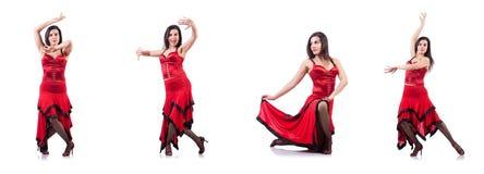 The female dancer dancing spanish dances Stock Photos