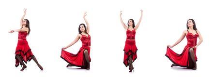 The female dancer dancing spanish dances Stock Image